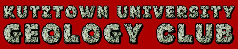 Kutztown University Geology Club banner